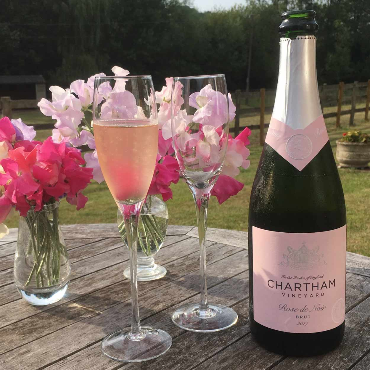 celebrate with Rose de Noir from chartham vineyard